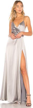 Jill Stuart Metallic Wrap Gown