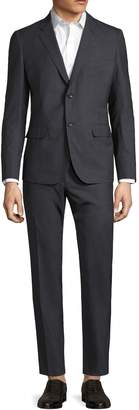 Martin Greenfield Clothiers Men's Wool Sharkskin Notch Lapel Suit