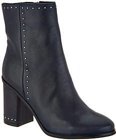 Marc Fisher Studded Leather Ankle Boots -Piazza