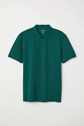 H&M Short-sleeved Polo Shirt - Green