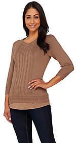 Liz Claiborne New York Pointelle PulloverSweater