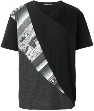 Issey Miyake colour combi jersey T-shirt