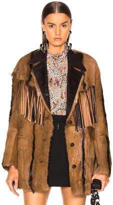 Isabel Marant Goat Fur Bambo Jacket in Cognac | FWRD