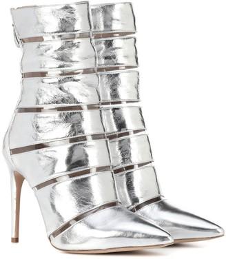 Alexandre Birman Sommer metallic leather ankle boots