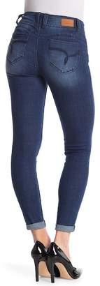 YMI Jeanswear Jeans WannaBettaButt 2-Button Mid-Rise Ankle Crosshatch Jeans