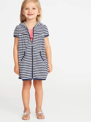 Old Navy Loop-Terry Hooded Zip Front Swim Cover-Up for Toddler Girls