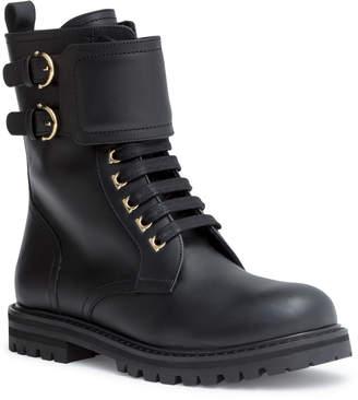Salvatore Ferragamo Crotone black combat boots