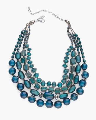 Chico's Chicos Short Teal Stone Multi-Strand Necklace
