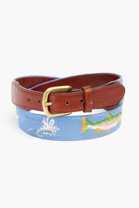 Smathers and Branson Trout and Fly Needlepoint Belt