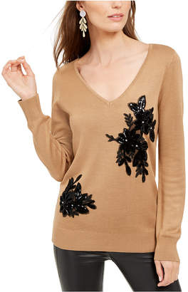 INC International Concepts Inc Velvet Applique Sweater