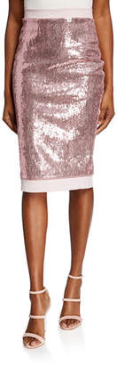 Chiara Boni Lilja Sequined Sparkle Skirt