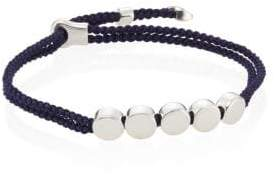 Monica Vinader Linear Bead Sterling Silver Friendship Bracelet/Navy