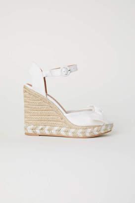 H&M Wedge-heel Sandals - White - Women
