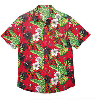 Forever Collectibles Men Tampa Bay Buccaneers Floral Camp Shirt