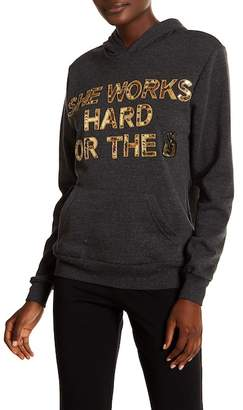 Bow & Drape She Works Hard For The Money Sweatshirt