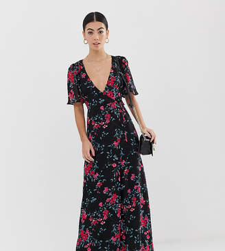 Fashion Union Petite maxi dress in dobby floral