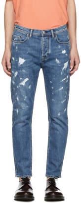 Acne Studios Bla Konst Blue Vintage Paint River Jeans