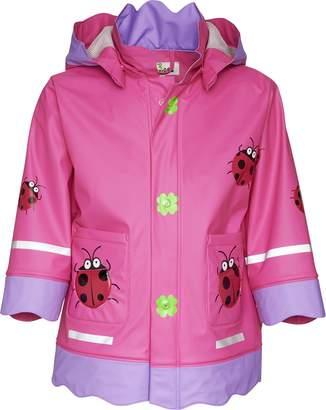 Playshoes Girl's Ladybug Waterproof Rain Jacket