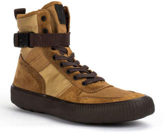 Frye Men's Canvas and Suede Combat Sneakers