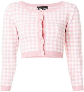 Moschino cropped checked cardigan