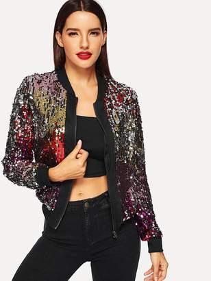 Shein Zip-Up Sequin Jacket