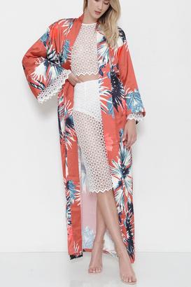 L'atiste Long Floral Print Kimono $49.99 thestylecure.com
