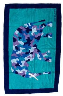 Hermes Elephant Print Beach Towel