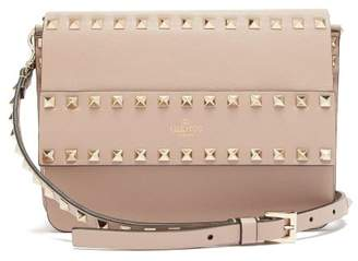 Valentino Rockstud Leather Cross Body Bag - Womens - Nude