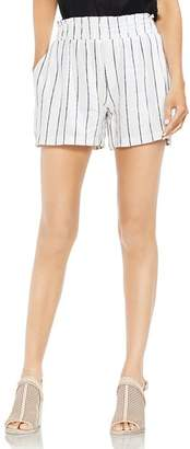 Vince Camuto Smocked Pinstripe Pull-On Shorts