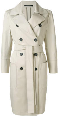 Tagliatore double-breasted belted trench coat