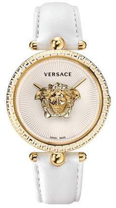 Versace 39mm Palazzo Empire Watch, White/Gold