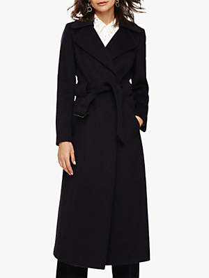Phase Eight Mel Belted Coat, Blackberry Marl