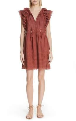 Sea Sofie Lace & Pompom Dress