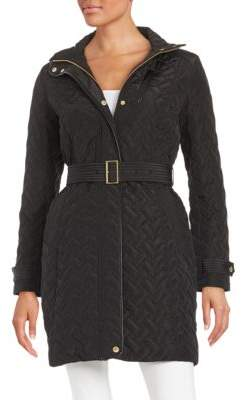 Cole Haan Essential Belted Quilted Coat