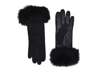 At Zos Ugg Italian Wool Blend Tech Gloves With Long Pile Sheepskin Trim