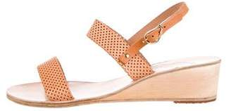 Ancient Greek Sandals Perforated Wedge Sandals