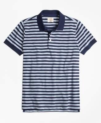 Brooks Brothers Sailor Stripe Jersey Polo Shirt