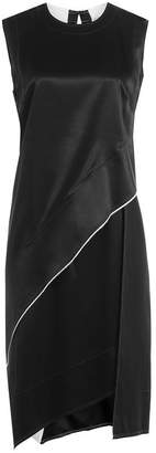 DKNY Asymmetric Dress with Satin