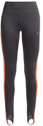 Calvin Klein Side Stripe Stirrup Leggings - Womens - Dark Grey