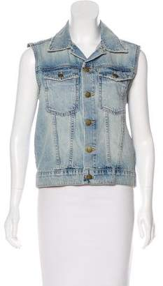 Current/Elliott Collar Denim Vest