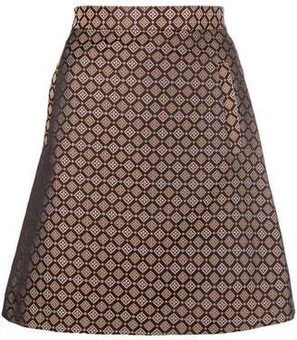 Etro jacquard A-line mini skirt