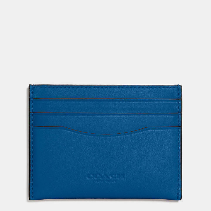 Coach  COACH Coach Flat Card Case In Glovetanned Leather