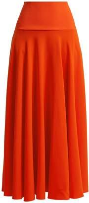 Elizabeth and James Frances crepe maxi skirt