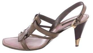 Louis Vuitton Leather Slingback Sandals