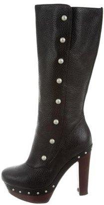 UGG Australia Leather Platform Boots $125 thestylecure.com