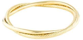 David Yurman 18K Crossover Bangle