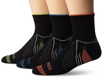 Saucony Men's 3 Pack River Quarter Socks