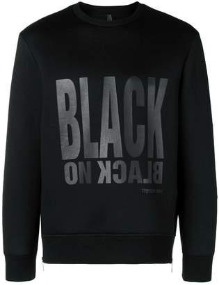 Neil Barrett black printed sweatshirt