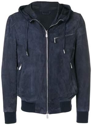 Eleventy hooded bomber jacket