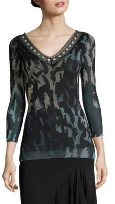 Fuzzi Abstract Print Top $445 thestylecure.com